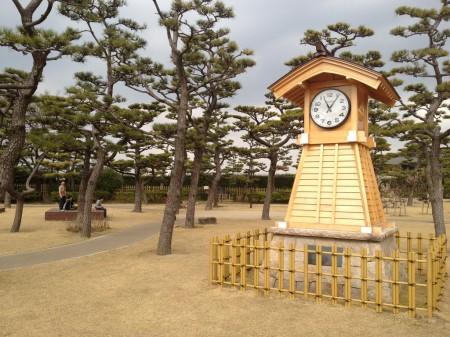 岸和田城 時計台